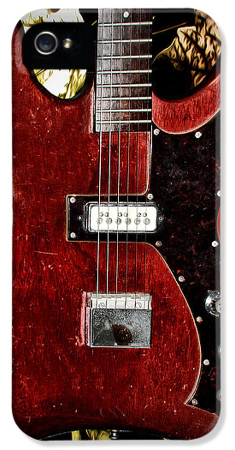 Red IPhone 5 / 5s Case featuring the photograph The Red Guitar Blues by Bill Cannon