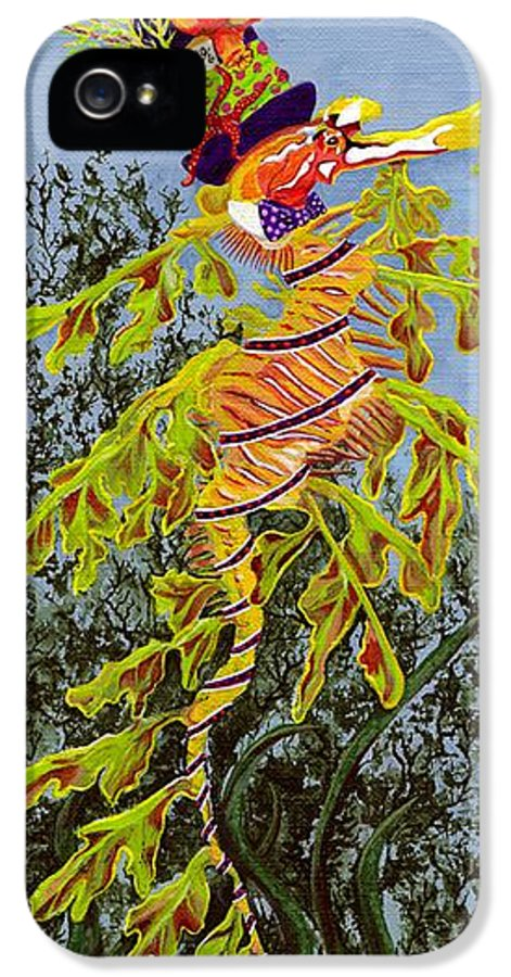 Sea Horse IPhone 5 / 5s Case featuring the painting The Sea Hatter by KJ Swan