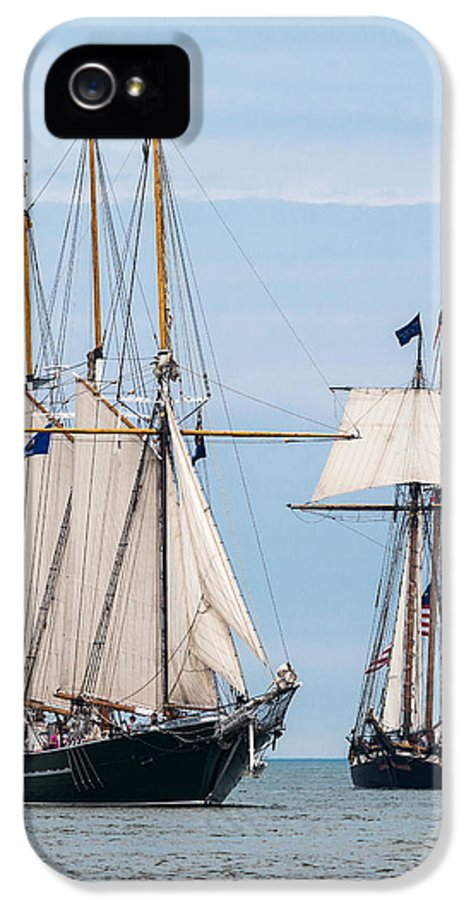 Tall Ships IPhone 5 / 5s Case featuring the photograph The Tall Ships by Dale Kincaid