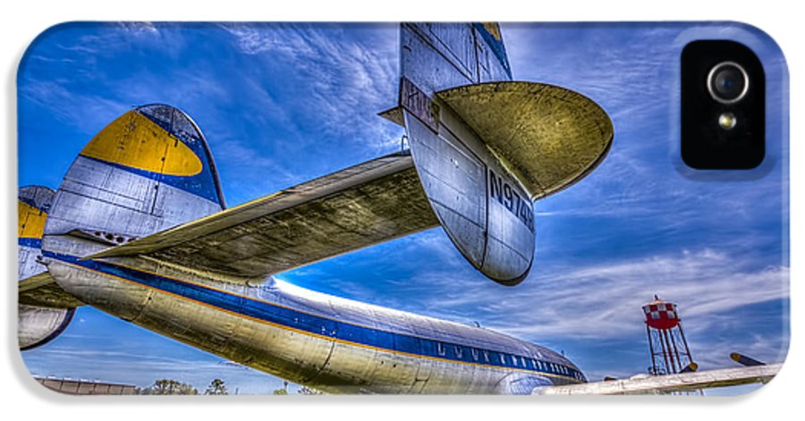 Lockheed Super Constellation IPhone 5 / 5s Case featuring the photograph The Transatlantic Queen by Marvin Spates