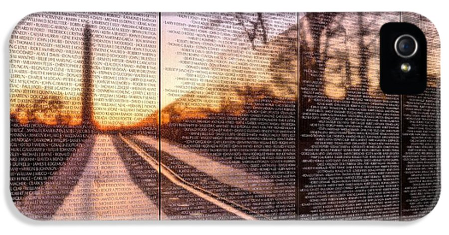 Vietnam Wall IPhone 5 / 5s Case featuring the photograph The Wall by JC Findley