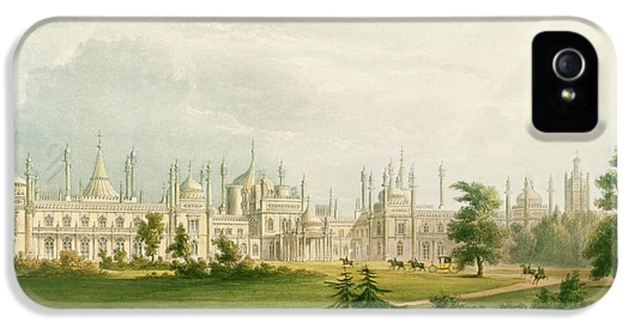 19th Century House IPhone 5 / 5s Case featuring the painting The West Front by John Nash