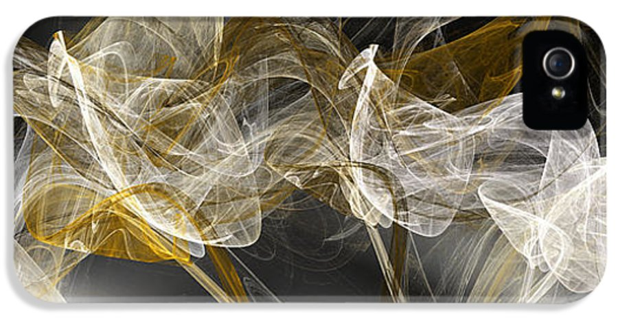 Abstract IPhone 5 / 5s Case featuring the digital art The Wind by Andee Design