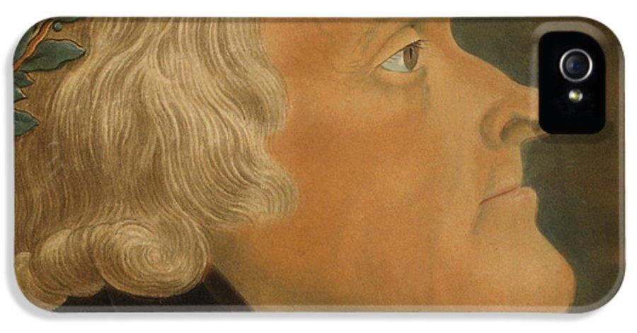 Thomas Jefferson IPhone 5 / 5s Case featuring the painting Thomas Jefferson by Michael Sokolnicki