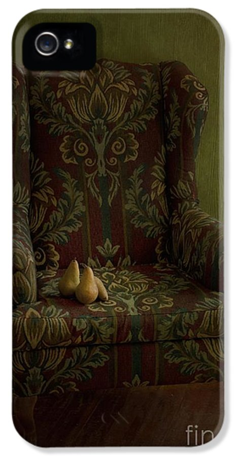 Chair IPhone 5 / 5s Case featuring the photograph Three Pears Sitting In A Wing Chair by Priska Wettstein