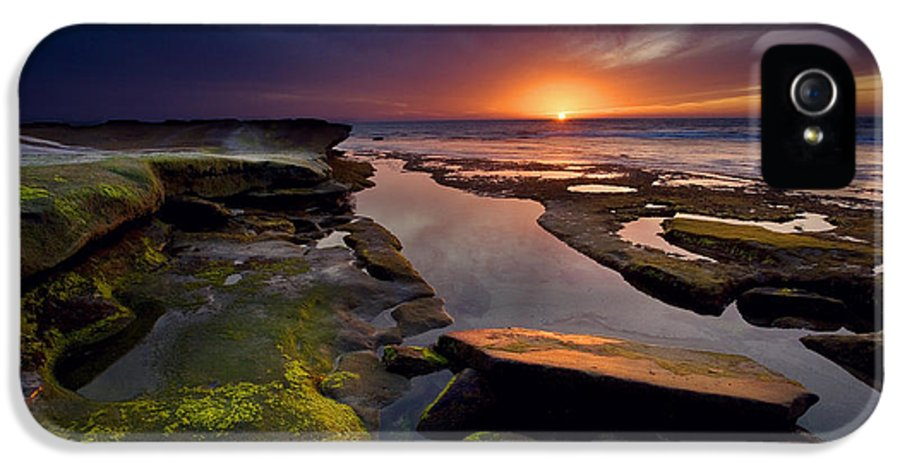 Ocean IPhone 5 / 5s Case featuring the photograph Tidepool Sunsets by Peter Tellone