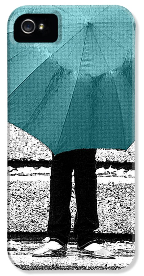 Tiffany Blue IPhone 5 / 5s Case featuring the photograph Tiffany Blue Umbrella by Lisa Knechtel