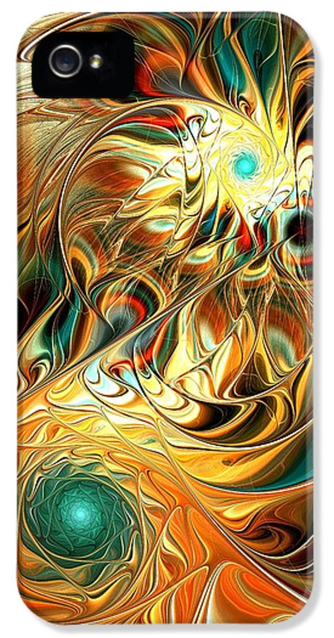 Malakhova IPhone 5 / 5s Case featuring the digital art Tiger Vision by Anastasiya Malakhova