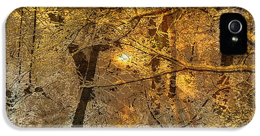 IPhone 5 / 5s Case featuring the mixed media Time II by Yanni Theodorou