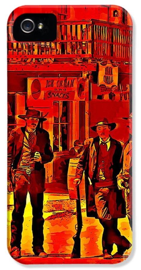 Tombstone Heat IPhone 5 / 5s Case featuring the photograph Tombstone Heat by John Malone