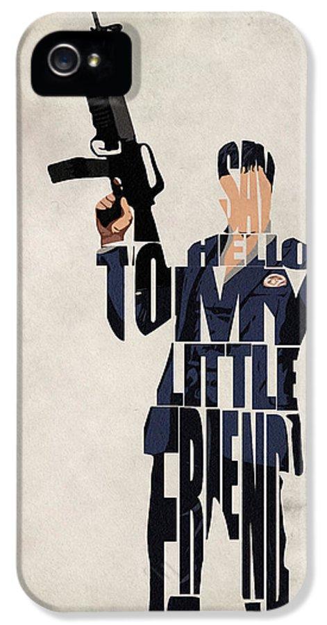 Al Pacino IPhone 5 / 5s Case featuring the drawing Tony Montana - Al Pacino by Ayse Deniz