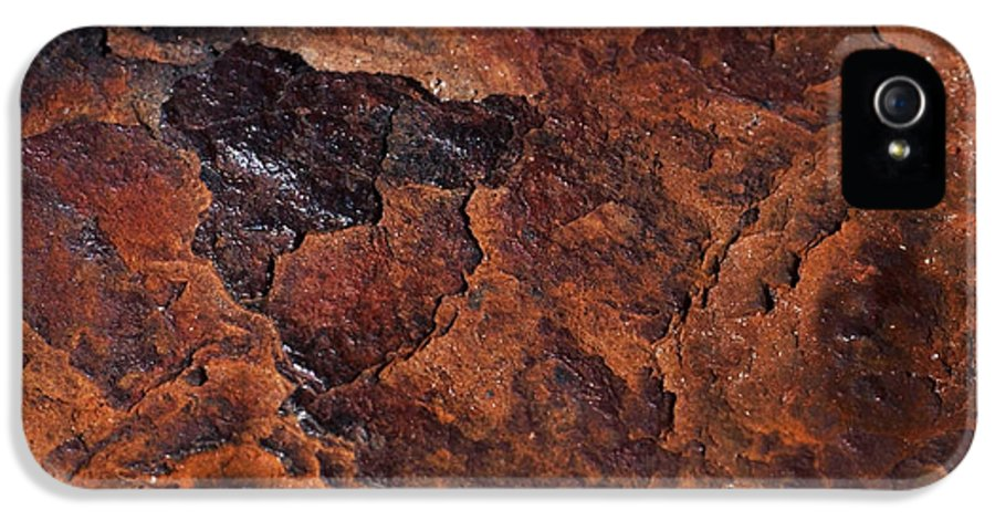 Rust IPhone 5 / 5s Case featuring the photograph Topography Of Rust by Rona Black