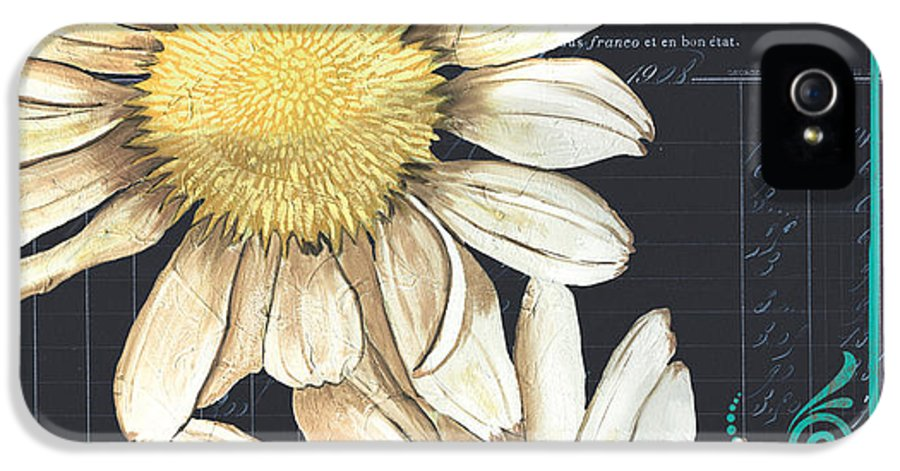 Daisy IPhone 5 / 5s Case featuring the painting Tranquil Daisy 1 by Debbie DeWitt
