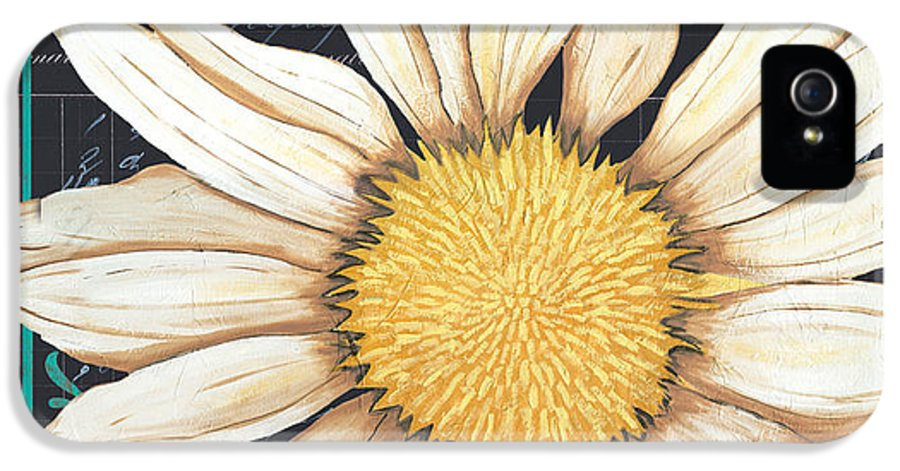 Daisy IPhone 5 / 5s Case featuring the painting Tranquil Daisy 2 by Debbie DeWitt