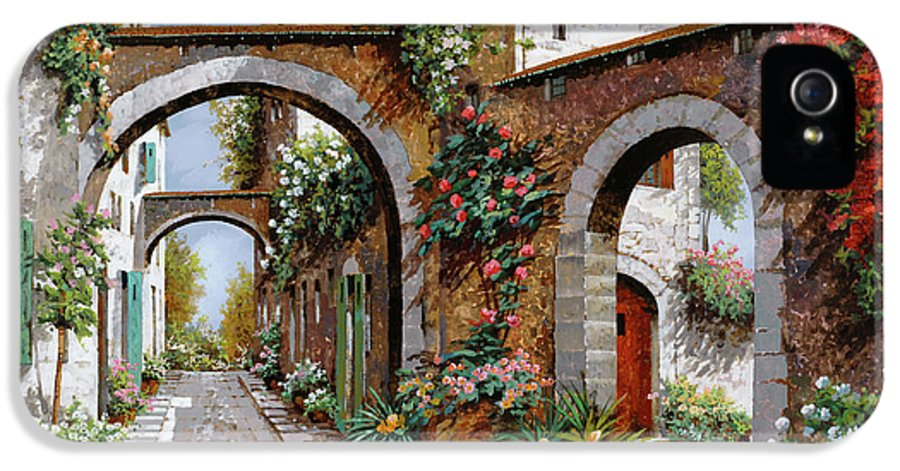 Arches IPhone 5 / 5s Case featuring the painting Tre Archi by Guido Borelli