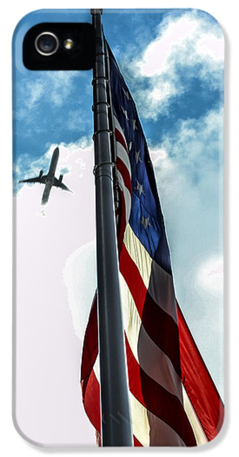American Flag IPhone 5 / 5s Case featuring the photograph Tribute To The Day America Stood Still by Rene Triay Photography