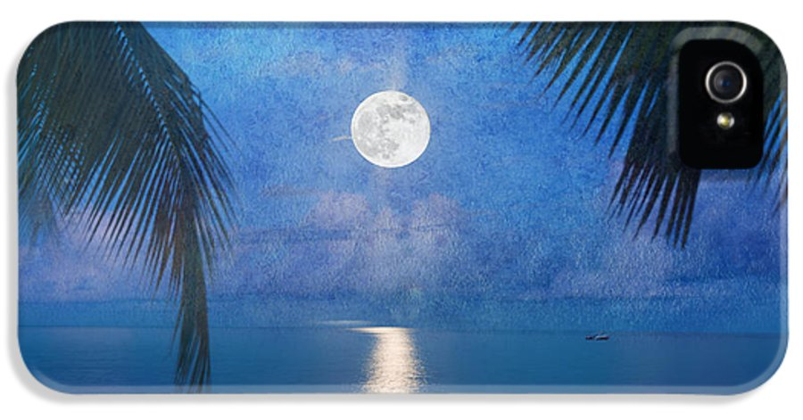 Seascape IPhone 5 / 5s Case featuring the photograph Tropical Moonglow by Betty LaRue