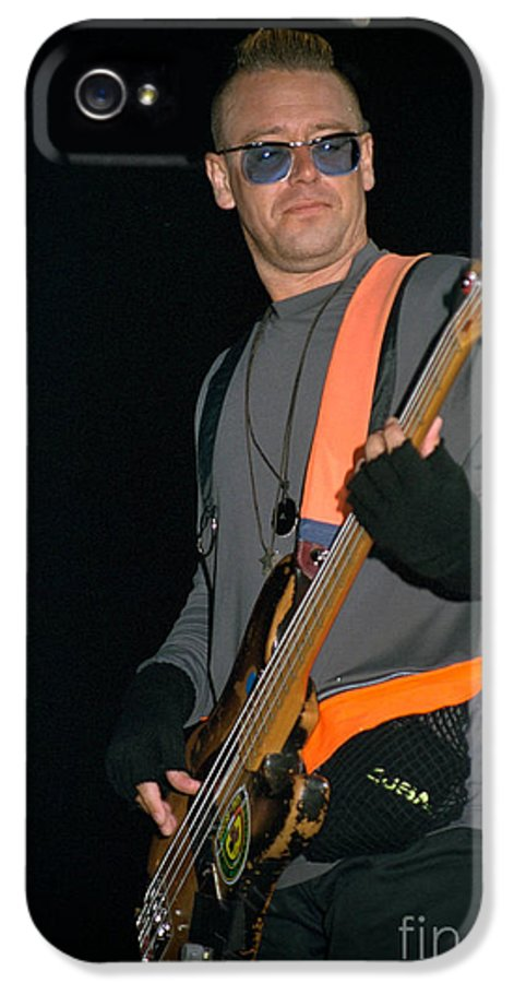 Adam Clayton IPhone 5 / 5s Case featuring the photograph U2-adam-gp24 by Timothy Bischoff