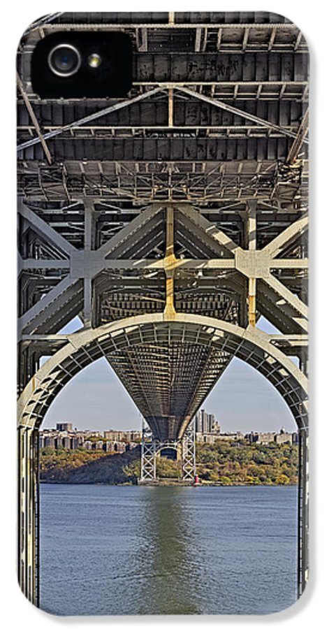Autumn IPhone 5 / 5s Case featuring the photograph Under The George Washington Bridge I by Susan Candelario