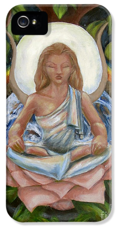 Goddess IPhone 5 / 5s Case featuring the painting Universal Goddess by Samantha Geernaert