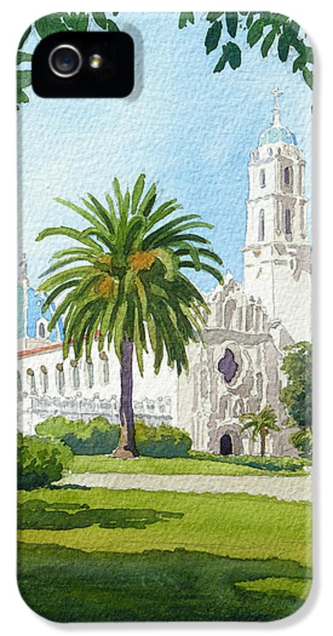 Usd IPhone 5 / 5s Case featuring the painting University Of San Diego by Mary Helmreich