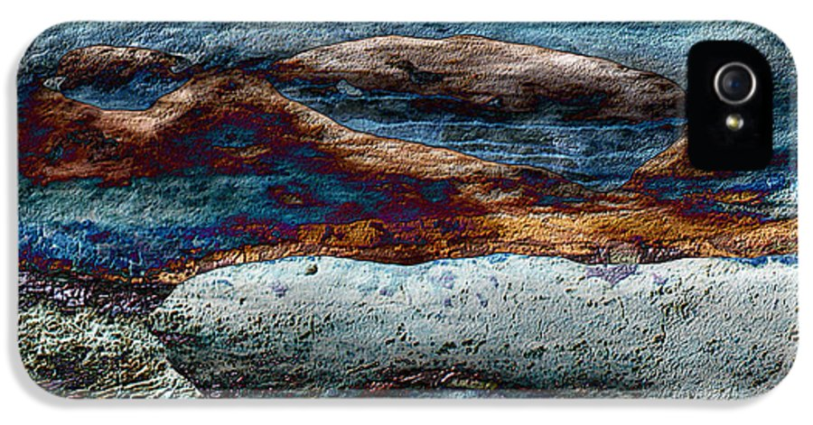 Seascape IPhone 5 / 5s Case featuring the mixed media Untamed Sea 2 by Carol Cavalaris