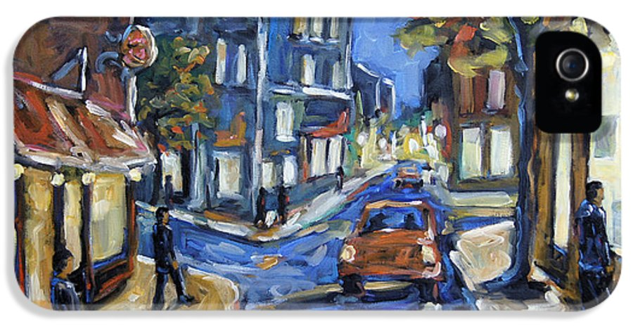 Canadian Rural Scene Created By Richard T Pranke IPhone 5 / 5s Case featuring the painting Urban Avenue By Prankearts by Richard T Pranke