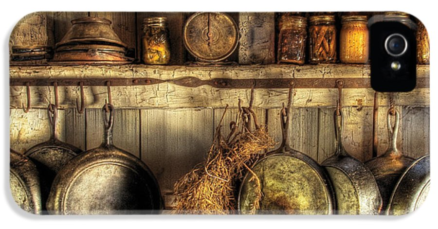 Kitchen IPhone 5 / 5s Case featuring the photograph Utensils - Old Country Kitchen by Mike Savad