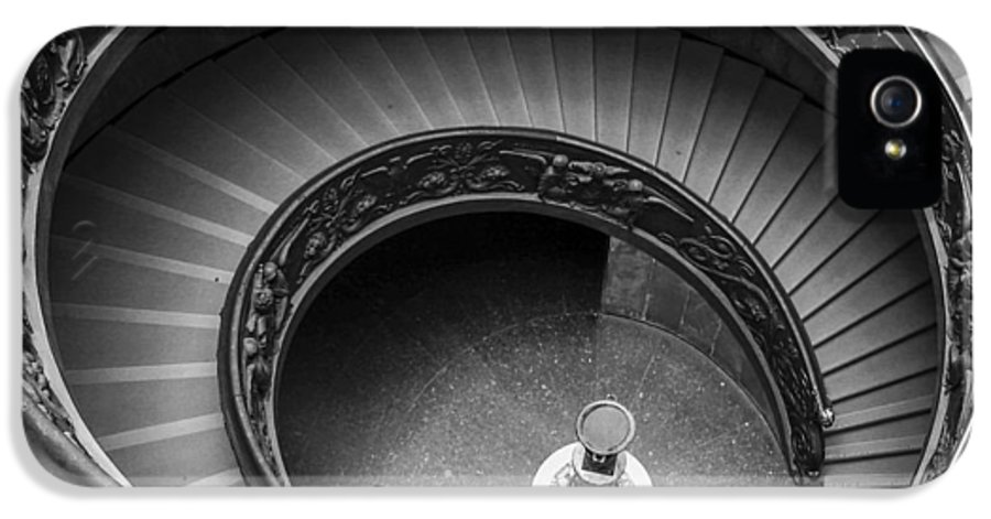 3scape Photos IPhone 5 / 5s Case featuring the photograph Vatican Stairs by Adam Romanowicz