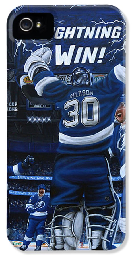 Hockey IPhone 5 / 5s Case featuring the painting Victory by Marlon Huynh