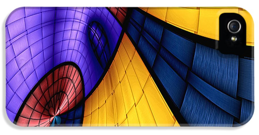Abstract IPhone 5 / 5s Case featuring the digital art View From The Top 2 by Wendy J St Christopher