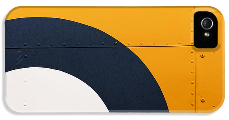 Design IPhone 5 / 5s Case featuring the photograph Vintage Airplane Abstract Design by Carol Leigh