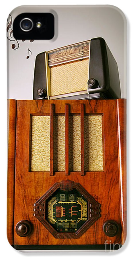 Analog IPhone 5 / 5s Case featuring the photograph Vintage Radios by Carlos Caetano