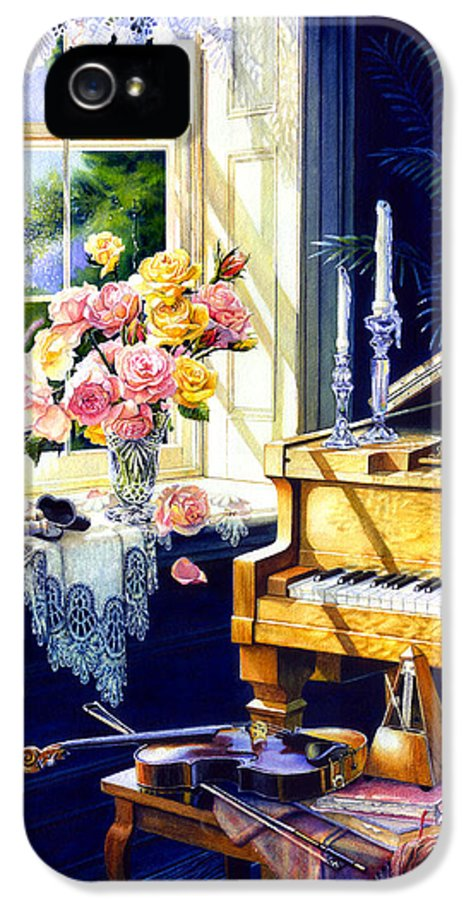 Piano IPhone 5 / 5s Case featuring the painting Virginia Waltz by Hanne Lore Koehler