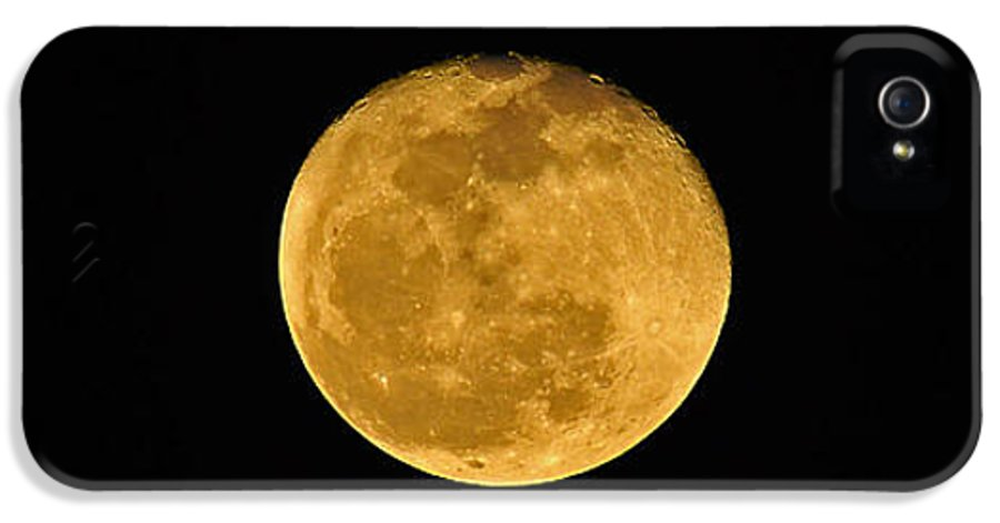 Moon IPhone 5 / 5s Case featuring the photograph Waning Passover Moon by Al Powell Photography USA