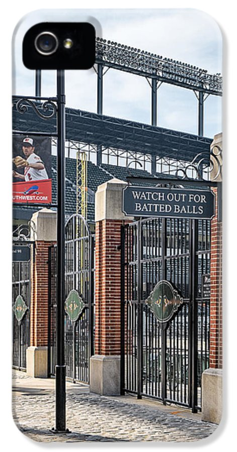Baltimore IPhone 5 / 5s Case featuring the photograph Watch Out For Batted Balls by Susan Candelario