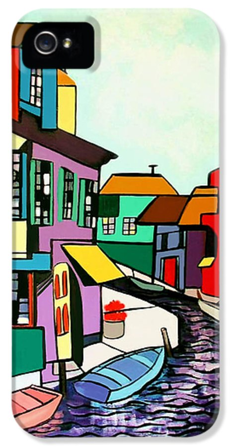 Waterfront IPhone 5 / 5s Case featuring the painting Waterfront by Anthony Falbo