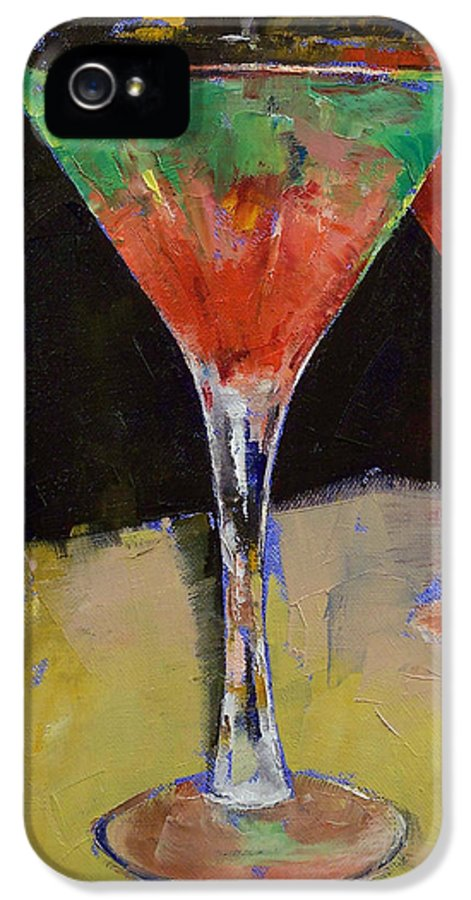 Watermelon IPhone 5 / 5s Case featuring the painting Watermelon Martini by Michael Creese