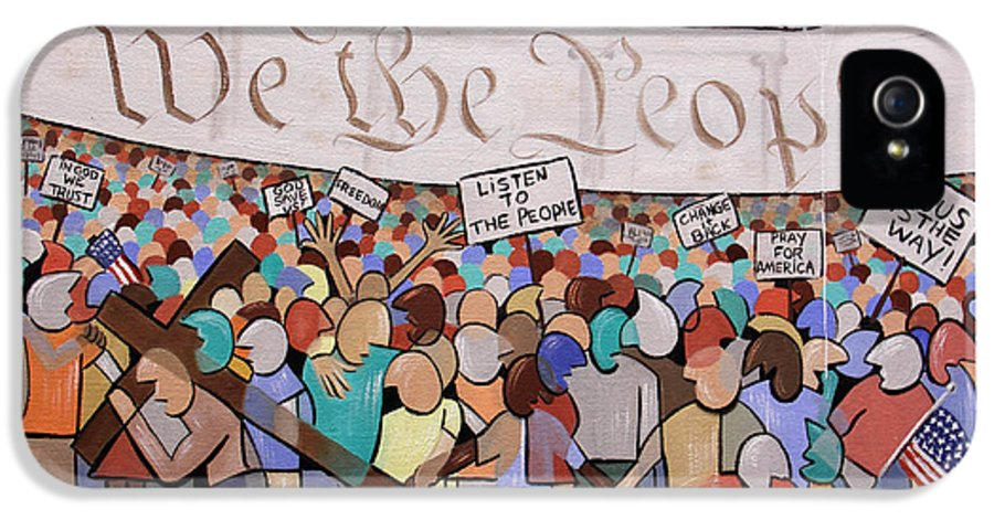 We The People IPhone 5 / 5s Case featuring the painting We The People by Anthony Falbo