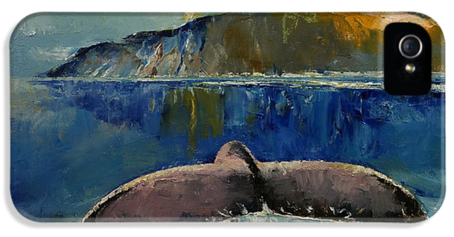 Whale IPhone 5 / 5s Case featuring the painting Whale Song by Michael Creese