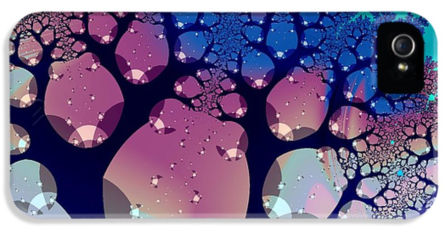 Peculiar IPhone 5 / 5s Case featuring the digital art Whimsical Forest by Anastasiya Malakhova
