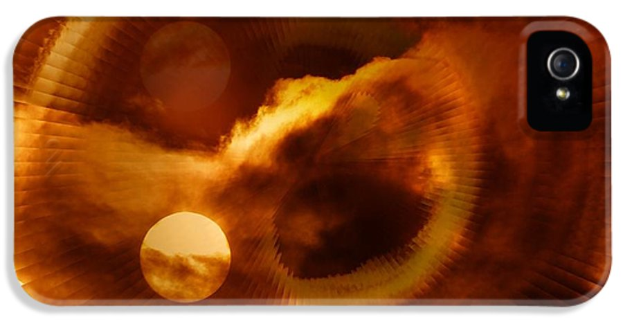 Abstract IPhone 5 / 5s Case featuring the photograph Whirling In The Clouds by Jeff Swan