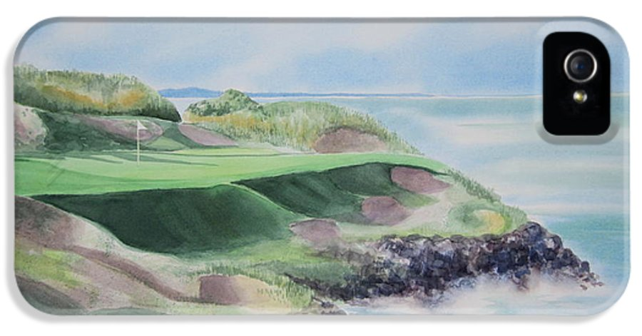 Whistling Straits IPhone 5 / 5s Case featuring the painting Whistling Straits 7th Hole by Deborah Ronglien