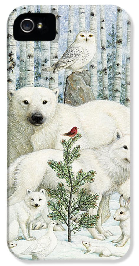 Animals IPhone 5 / 5s Case featuring the photograph White Animals Red Bird by Lynn Bywaters