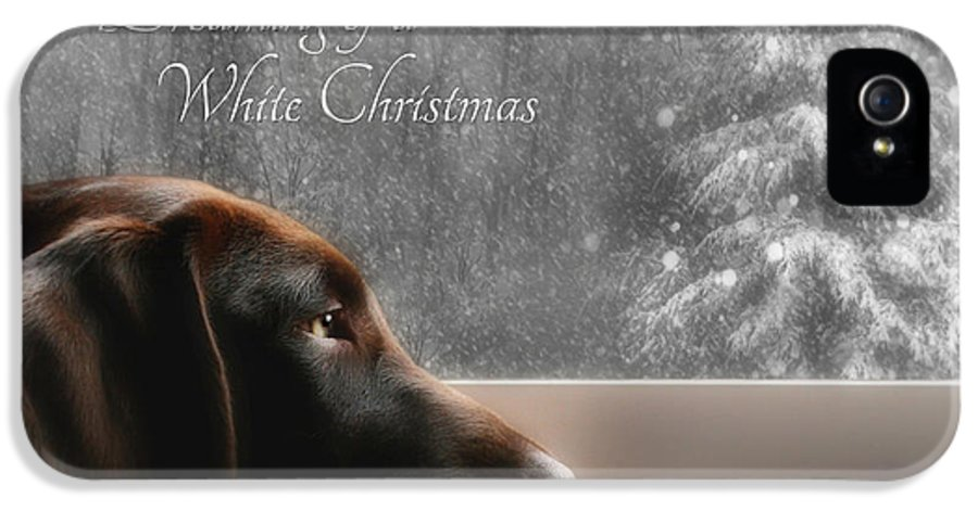 Sienna IPhone 5 / 5s Case featuring the photograph White Christmas by Lori Deiter