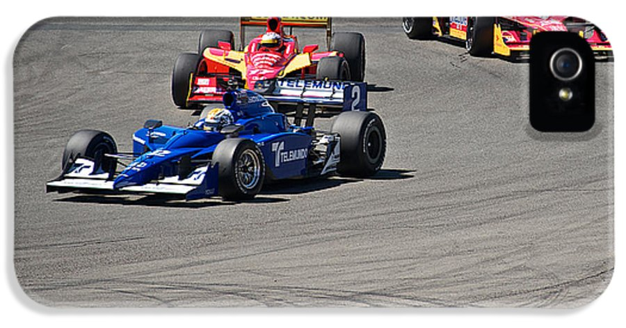 Auto IPhone 5 / 5s Case featuring the photograph Wide In Turn 9 by Dave Koontz