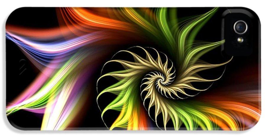 Malakhova IPhone 5 / 5s Case featuring the digital art Wild Flower by Anastasiya Malakhova