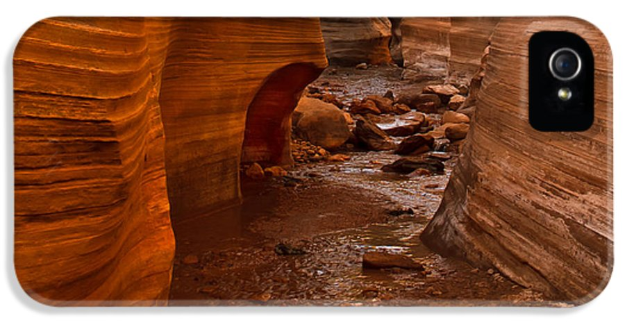 Slot Canyon IPhone 5 / 5s Case featuring the photograph Willis Creek Slot Canyon by Robert Bales