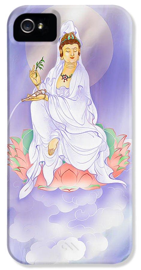 Avalokitesvara IPhone 5 / 5s Case featuring the photograph Willow Kuan Yin by Lanjee Chee