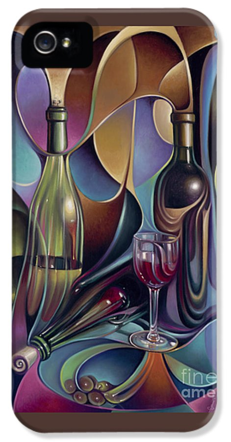Wine IPhone 5 / 5s Case featuring the painting Wine Spirits by Ricardo Chavez-Mendez